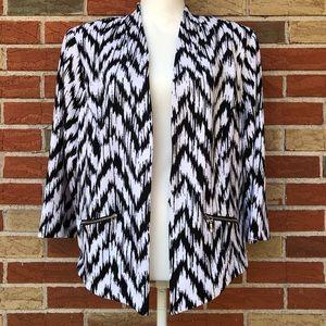 ☀️ Roz & Ali Long Sleeve Open Front Jacket